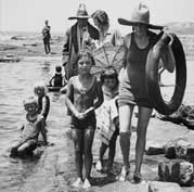 A family at the beach in 1930