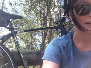 kim on a bike