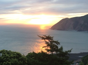 Sunrise on the Exmoor coast.