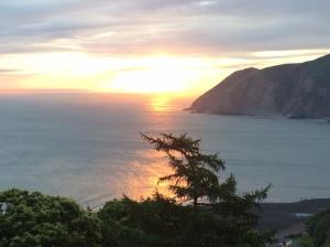 Sunrise on the Exmoor coast.